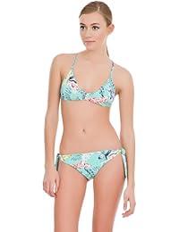 women'secret - Haut de bikini rembourré forme triangle, nœud dans le dos et bretelles croisées