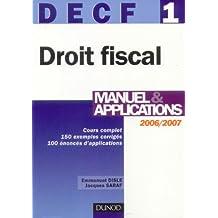 Droit fiscal DECF 1 : Manuel & application