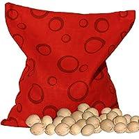 Kirschkernsäckchen rot mit Kreisen (24x24cm) Kirschkernkissen preisvergleich bei billige-tabletten.eu