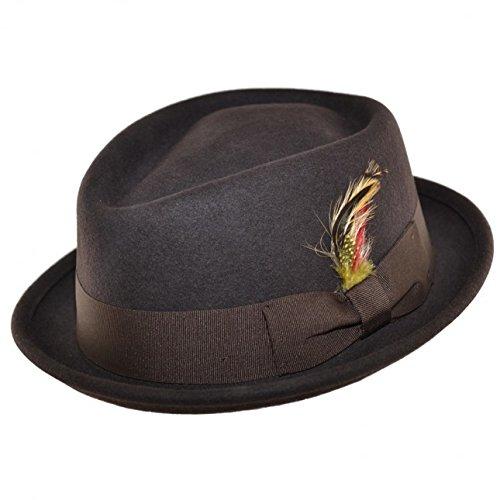 Cotswold Country Hats - Chapeau porkpie - Homme Marron