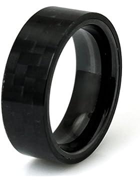 Tioneer Titan Schwarz Kohlenstofffaser Ebene Herren Ring
