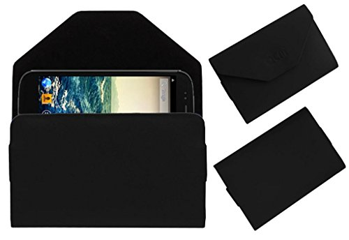 Acm Premium Pouch Case For Micromax Canvas 4 A210 Flip Flap Cover Holder Black  available at amazon for Rs.179