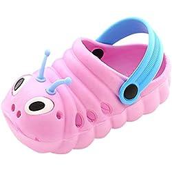 Verano para niños pequeños Niños bebés Chicas de Dibujos Animados Lindo Sandalias de Playa Zapatillas Zapatillas Flip (0-3 Meses, Pink)