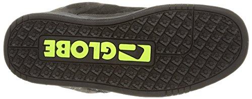 Globe Tilt Unisex-Erwachsene Sneakers Schwarz (charcoal/black/lime)