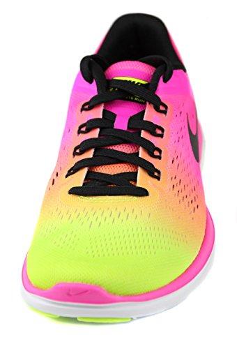 Nike Wmns Flex 2016 Rn Oc, Chaussures de Running Entrainement Femme Noir / Multicolore