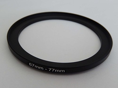 vhbw Step UP Filter-Adapter 67mm-77mm schwarz für Kamera Agfa, Agfaphoto, Canon, Casio, Fujifilm, Kodak, Minolta, Nikon, Olympus