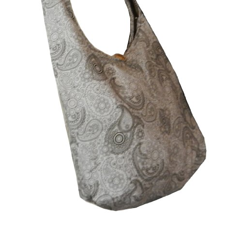 BenThai Products, Borsa a tracolla donna Patchwork Random Colors Height: 14 Grey PL11