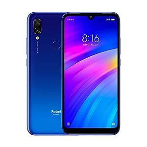 """Xiaomi Redmi 7 Smartphones 3GB RAM + 32GB ROM, Pantalla Full HD 6.26"""", procesador Octa-Core Snapdragon 632, Frontal de 8MP y cámara Trasera de 12MP + 2MP AI (Azul)"""