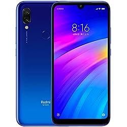 Xiaomi Redmi 7 Smartphone, 3GB RAM 32GB ROM Dual SIM Qualcomm Snapdragon 632 Octa 8MP Delantero 12MP + 2MP de Doble cámara (Azul)