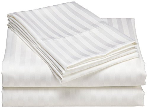 Zura's Classic Cotton Pillow Covers / Cotton Pillow Cases (White Stripes)