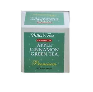 100% Natural Organic Herbal Extracts Green Tea Leaves In 80 Grams Pack By Mittal Teas (Apple Cinnamon)