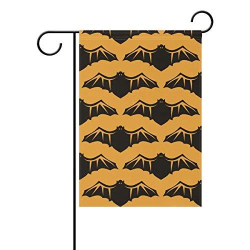(Dozili-Flagge, Halloween-Fledermaus-Dekoration, Garten-Flagge, wetterfest und doppelseitig, Polyester, bunt, 12.5