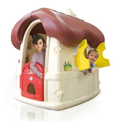 INJUSA - 2030 Casa De Juegos Chocolate Cottage Con Puertas Y Ventanas Abatibles,, 2030