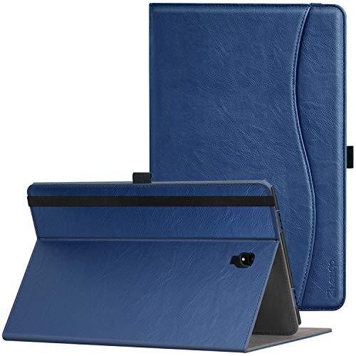 Ztotop Hülle für Samsung Galaxy Tab A 10,5 2018,für Modell SM-T590/SM-T595,Premium Leder Geschäftshülle mit Ständer,Kartensteckplatz,Auto Schlaf/Aufwach Funktion,Mehrfachwinkel,Navy Blau