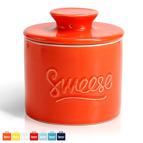 sweese Butter Keeper keramikpfeiler - Porzellan French Butterdose Orange