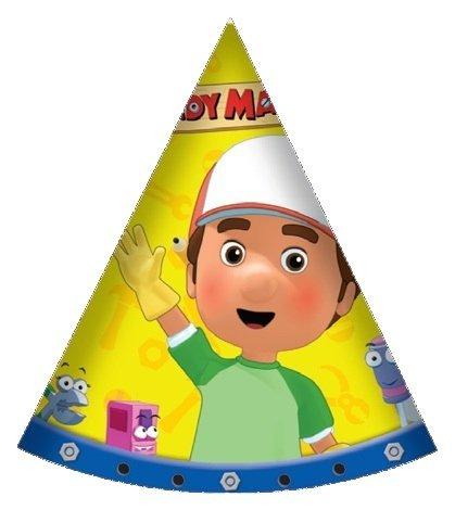6 Partyhüte Meister Mannys (Manny Handy Kostüm)