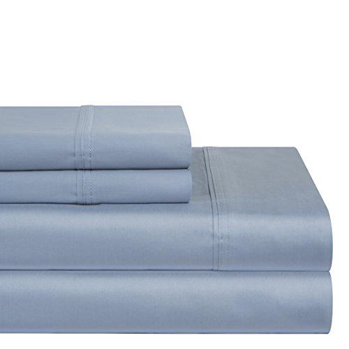 pointehaven 400TC Deep Pocket 100Prozent Pima-Baumwolle-Bettlaken-Set, baumwolle, dusty blue, California King