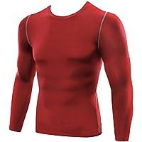 Camiseta Térmica De Compresión De Manga Larga Para Hombre Traning Base Layer ...