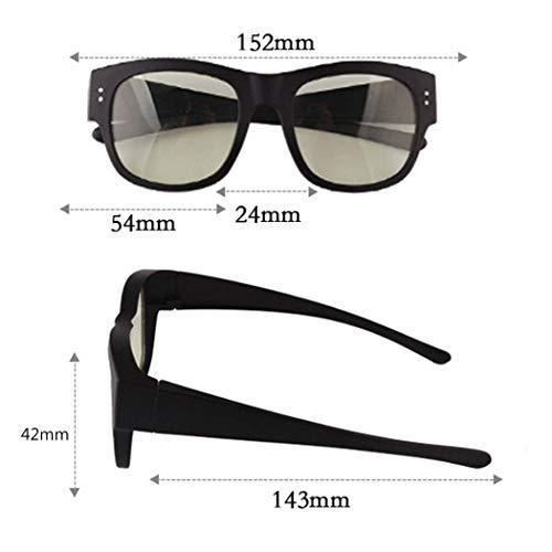 Yuany Sonnenbrille Anti-Strahlung Brille Handy Computer Anti-blaues Licht kann von Myopie Spiegel Arbeitsspiel eingestellt Werden, um Augenkomfort Schutzbrille zu halten (Strahlung Trockene Auge-brille)