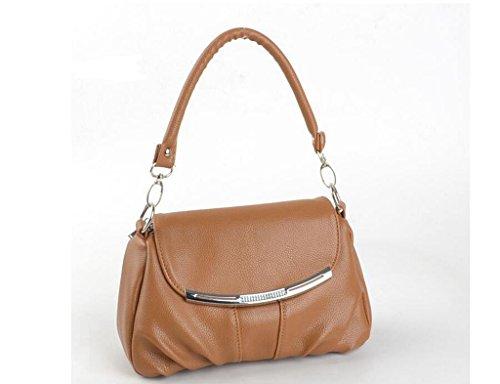 Il nuovo modo della spalla minimalista di Miss Han Banchao, Messenger bag Khaki
