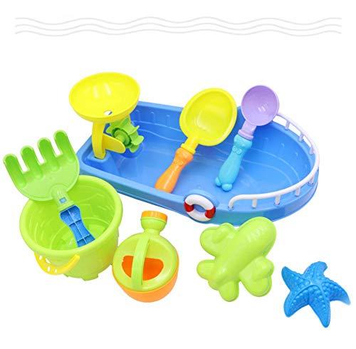 Badespielzeug, Strandspielzeug, Für Badespaß, Strandboot Eimer Spielzeug Duschset für Mädchen 1 2 3 Jahre/Jungen/Kinder
