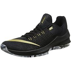 Nike Air MAX Infuriate 2 Low, Zapatillas de Baloncesto para Hombre, Negro (Black/Metallic Gold/Anthracite/White 090), 44 EU