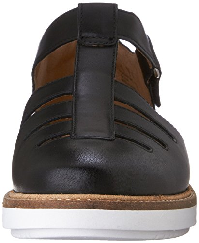 Clarks Glick Delta Fisherman Sandalo Black Leather