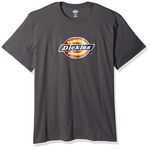 Dickies Herren Short Sleeve Regular Fit Logo Tee T-Shirt, Grau - Stone Gray, 2X -