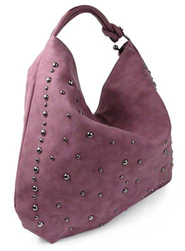 Lovely Lauri Hobo Tasche Handtasche Nieten Bag oversize Lila