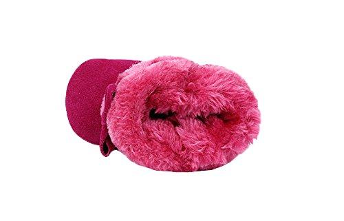 Genda 2Archer Bébé garçons filles hiver bottes douce et chaude coton premier chaussures de marche Rosa Rouge
