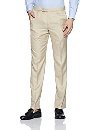 Park Avenue Men's Relaxed Regular Fit Formal Trousers