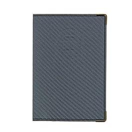 Sans 550067 – Porta carta per auto, finitura in carbonio, Grigio Scuro