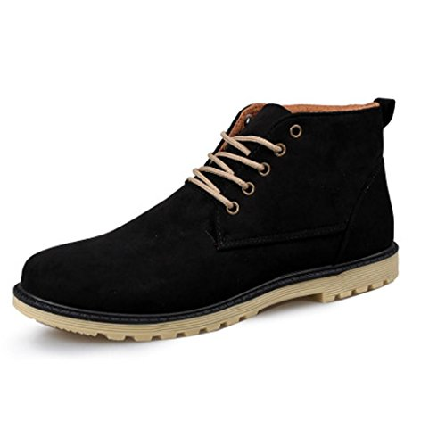 Heart&M casual haut-coupent homme garder chaud daim cuir/Martin chaussures bottes Black
