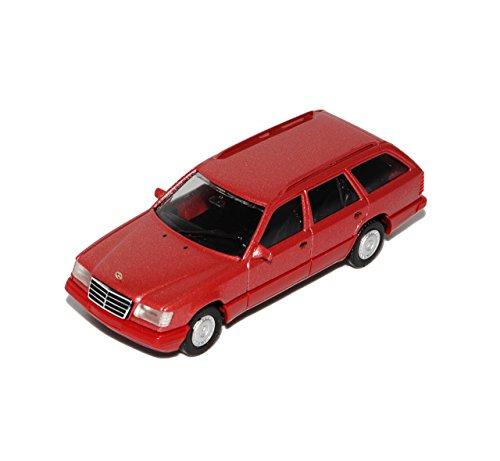 Preisvergleich Produktbild Mercedes-Benz E-Klasse W124 E320 T-Modell Kombi Rot 1984-1997 H0 1/87 Herpa Modell Auto mit individiuellem Wunschkennzeichen