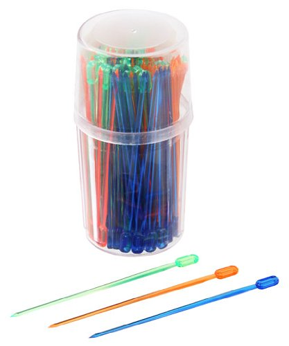 Fackelmann 50611 Haricot Pique de soirée Plastique Multicolore 8,5 cm Lot de 100