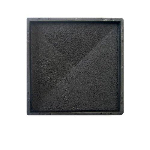 @tec Betonform Schalungsform Gießform Polypropylen (Kunststoff) - Pfeilerabdeckung/Mauerabdeckung RAU - 49 x 49 x 6,5 cm
