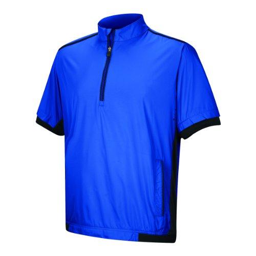 Preisvergleich Produktbild Adidas Golf Herren ClimaProof Stretch Wind Short Sleeve Jacket,  Herren,  Vivid Blue / Black,  M