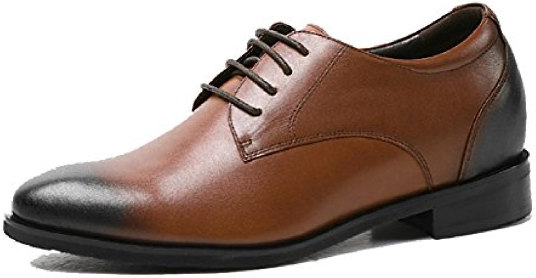 NIUMJ Hombres Verano Casual Moda Negocios Transpirable Cómodo Antideslizante Exterior Zapatos De Cuero