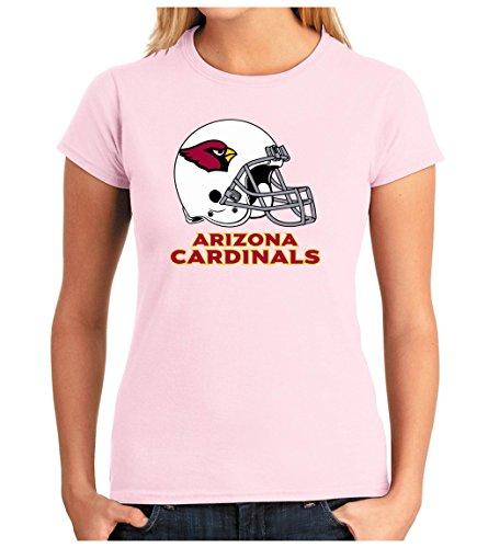 OM3 Arizona Cardinals - T-Shirt | Damen | American Football Shirt | Super Bowl 52 LII | NFL | XL, Rosa (Classic Shirt Arizona)