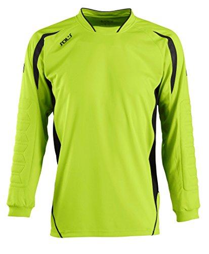 SOLS Kids Azteca Goalkeeper Football Long Sleeve Shirt Apple Green Black 10-12