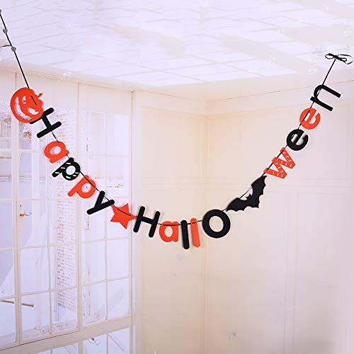 t terroristischen Kreaturen, 30ct Swirl Decke, Party Dekorationen zum Aufhängen Halloween Banner Orange ()