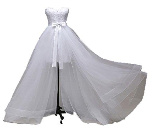 Asymmetrisches Brautkleid Strandhochzeit Strandkleid Strand Hochzeitskleid NEU 34 36 38 40 XS S M L...