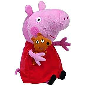 Peppa Pig - Peluche, 25 cm, color rosa (TY 96230TY)