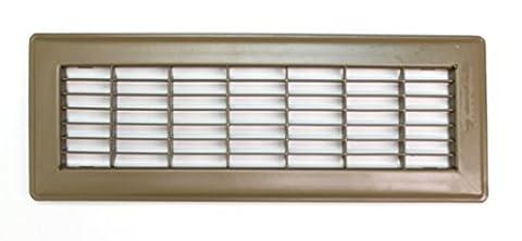8 X 12 Heavy Duty Rigid Floor Grille - Fixed Blades Air Grill - Brown by HVAC Premium