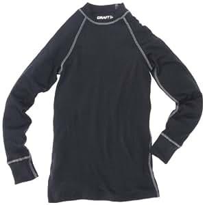 Craft Zero ras de cou manches longues Sous-vêtement mixte enfant Noir 110-116