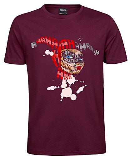 makato Herren T-Shirt Luxury Tee Haha Girl Wine