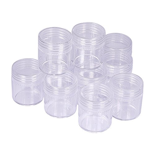 28mm Perle (PandaHall 12 Stk Kunststoff Plastik Sortierbox Sotierkasten Transparent, 25x28 mm)