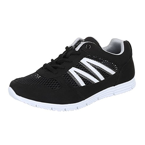 Kinder Schuhe, G862, FREIZEITSCHUHE TURNSCHUHE SPORTSCHUHE Schwarz Weiß