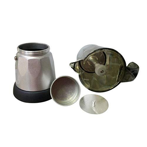 Moka Coffee Pot Percolators Tool Filter Cartridge Aluminium Alloy Electrical Espresso Maker EU Plug ()