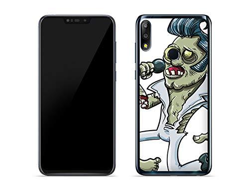 etuo Hülle für Asus Zenfone Max Pro (M2) (ZB631KL) - Hülle Fantastic Case - Zombie Presley - Hülle Schutzhülle Etui Case Cover Tasche für Handy